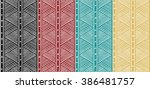 abstract tribal pattern.... | Shutterstock .eps vector #386481757