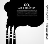 air pollution. factory or power ... | Shutterstock .eps vector #386482627
