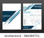 business brochure cover design... | Shutterstock .eps vector #386484721