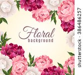 floral realistic background  | Shutterstock . vector #386486257