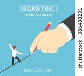 Isometric Businessman Walking...