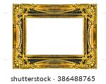 gold picture frame isolated on... | Shutterstock . vector #386488765