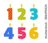 vector flat design birthday... | Shutterstock .eps vector #386490424