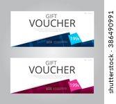 vector design for gift voucher... | Shutterstock .eps vector #386490991