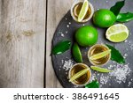 gold mexican tequila shot | Shutterstock . vector #386491645