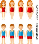 vector illustration fat and... | Shutterstock .eps vector #386493691