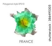 france map multicolor geometric ... | Shutterstock .eps vector #386495305