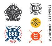 vector set barbecue design... | Shutterstock .eps vector #386495935