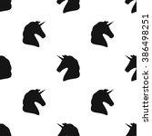 unicorn silhouette. seamless...   Shutterstock .eps vector #386498251