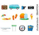 travel icon set   Shutterstock .eps vector #38649934