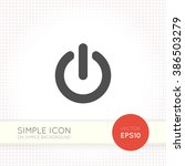 power button icon on simple...
