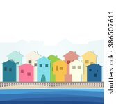 beach properties for rent  ...   Shutterstock .eps vector #386507611