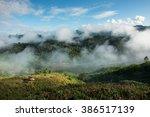 cloud in mountain at phu lang... | Shutterstock . vector #386517139