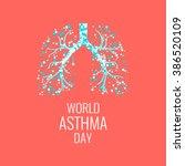 world asthma day awareness... | Shutterstock .eps vector #386520109