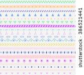 tribal ethnic striped seamless... | Shutterstock .eps vector #386521441