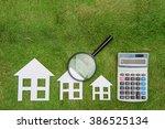 buy green building house... | Shutterstock . vector #386525134