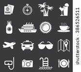 vacation icon set | Shutterstock .eps vector #386526511