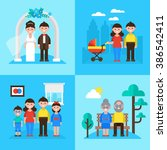 family planning concept ... | Shutterstock .eps vector #386542411