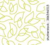 simple line art leaf shape... | Shutterstock .eps vector #386546515