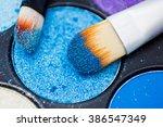 brushes for make up on the eye...   Shutterstock . vector #386547349