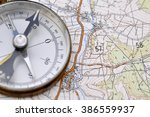 compass and map | Shutterstock . vector #386559937