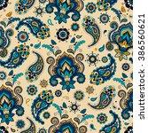 vintage floral seamless pattern | Shutterstock .eps vector #386560621