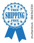 free shipping icon on white ...   Shutterstock .eps vector #386562334