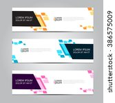 vector design banner background.... | Shutterstock .eps vector #386575009