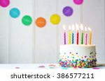 Birthday Cake With Colorful...