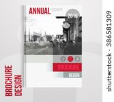 vector brochure cover template... | Shutterstock .eps vector #386581309