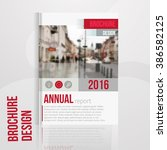 vector brochure cover template...   Shutterstock .eps vector #386582125