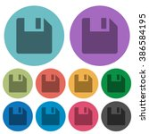 color save flat icon set on...