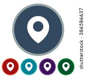 icons location for web and...   Shutterstock .eps vector #386586637