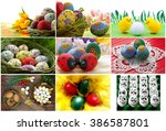 Easter eggs collection - stock photo