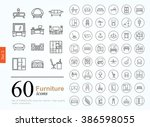 set of furniture icons for... | Shutterstock .eps vector #386598055