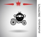 carriage vector icon. | Shutterstock .eps vector #386599471