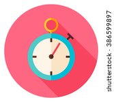 stopwatch circle icon. flat...   Shutterstock .eps vector #386599897
