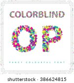 Set Of Colorblind Style Font I...