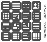 hamburger menu icons set. bar... | Shutterstock .eps vector #386629951