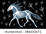 The Horse A Skeleton Jumps...