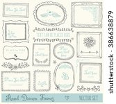 hand drawn decorative vector... | Shutterstock .eps vector #386638879