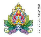 vector color henna illustration | Shutterstock .eps vector #386639101