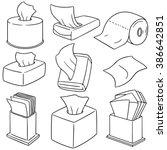 vector set of tissue paper | Shutterstock .eps vector #386642851