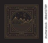 linear vector illustration.... | Shutterstock .eps vector #386653789