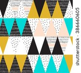 geometric background in retro... | Shutterstock .eps vector #386660605