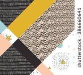 geometric background in retro... | Shutterstock .eps vector #386660641