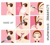 step to make up for woman ... | Shutterstock .eps vector #386664175