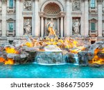Trevi Fountain At Sunrise  Rom...