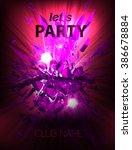 disco night party vector poster ...   Shutterstock .eps vector #386678884