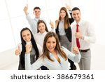 successful young businesswoman... | Shutterstock . vector #386679361